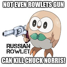 NOT EVEN ROWLETS GUN CAN KILL CHUCK NORRIS! | made w/ Imgflip meme maker