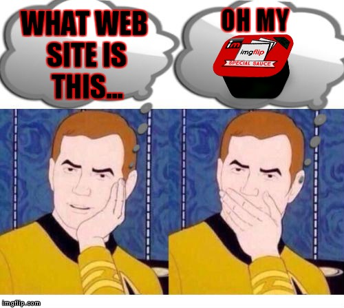 deep thoughts with Captain Kirk | WHAT WEB SITE IS THIS... OH MY | image tagged in deep thoughts with captain kirk | made w/ Imgflip meme maker