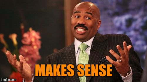 Steve Harvey Meme | MAKES SENSE | image tagged in memes,steve harvey | made w/ Imgflip meme maker
