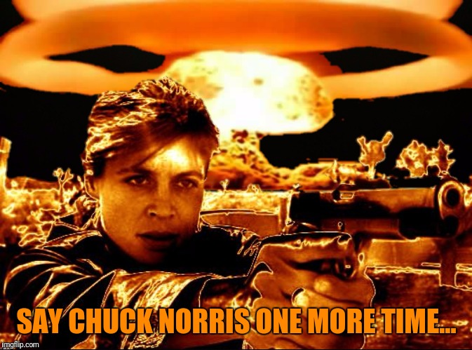 SAY CHUCK NORRIS ONE MORE TIME... | made w/ Imgflip meme maker