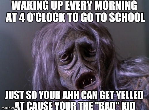 "We all went through the ""im bad stage"" 