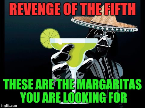 REVENGE OF THE FIFTH THESE ARE THE MARGARITAS YOU ARE LOOKING FOR | image tagged in darth margarita | made w/ Imgflip meme maker
