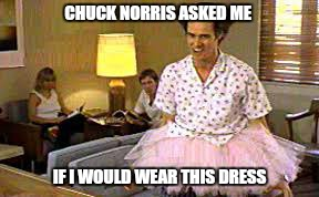 "Chuck just said now""with his fist"" . 