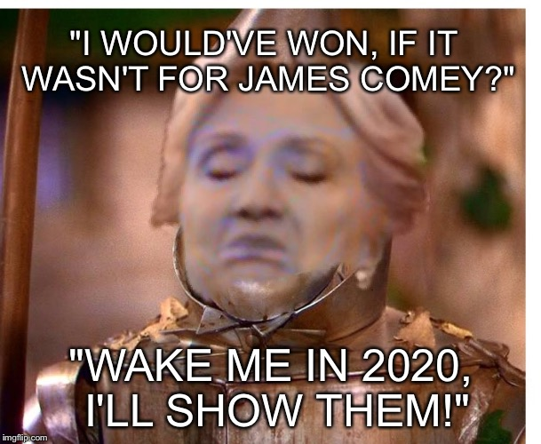 """I WOULD'VE WON, IF IT WASN'T FOR JAMES COMEY?"" ""WAKE ME IN 2020, I'LL SHOW THEM!"" 
