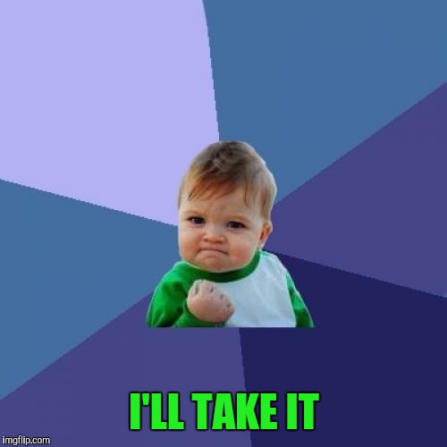 Success Kid Meme | I'LL TAKE IT | image tagged in memes,success kid | made w/ Imgflip meme maker