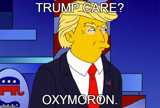 Oxymoron | TRUMP CARE? OXYMORON. | image tagged in oxymoron | made w/ Imgflip meme maker