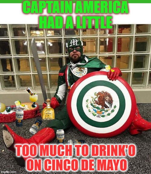 "Captain de Hecho México ""Viva Comic Book de Mayo""   