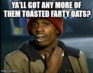 Y'all Got Any More Of That Meme | YA'LL GOT ANY MORE OF THEM TOASTED FARTY OATS? | image tagged in memes,yall got any more of | made w/ Imgflip meme maker