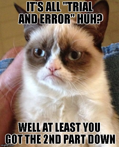 "the truth about ""trial and error"" 