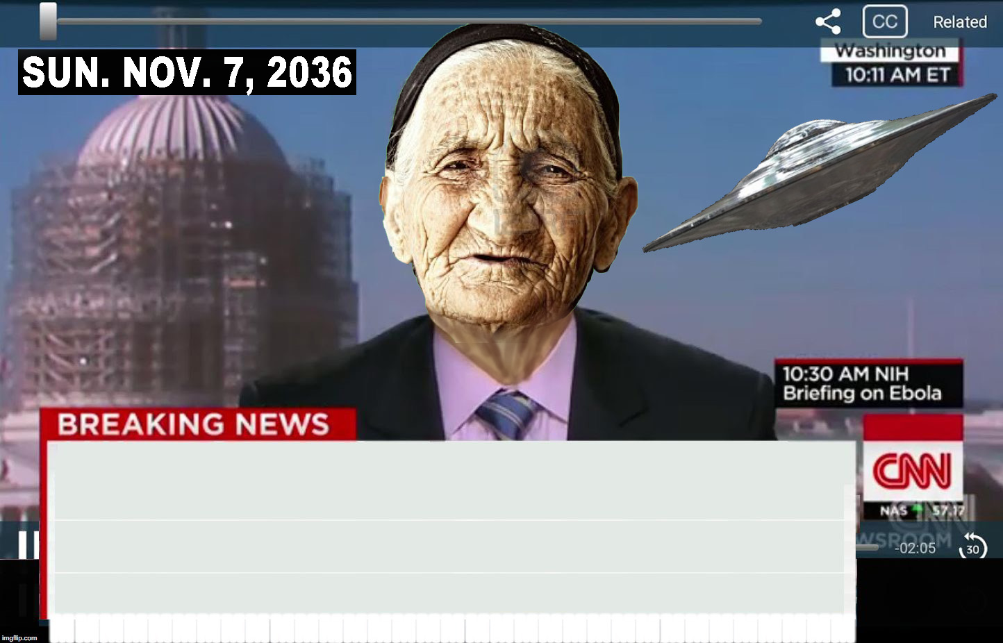 CNN in the future Meme Template