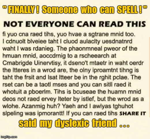 "Dyslexic ""If you can read this"" 