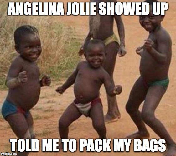 image tagged in african kids dancing,funny | made w/ Imgflip meme maker