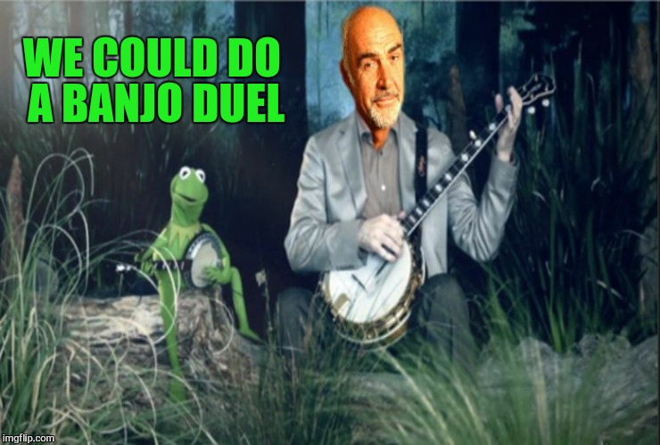 Kermit VS Sean Banjo War | WE COULD DO A BANJO DUEL | image tagged in kermit vs sean banjo war | made w/ Imgflip meme maker