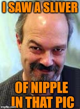 I SAW A SLIVER OF NIPPLE IN THAT PIC | made w/ Imgflip meme maker
