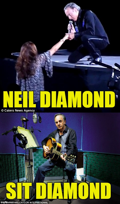 NEIL DIAMOND SIT DIAMOND | made w/ Imgflip meme maker