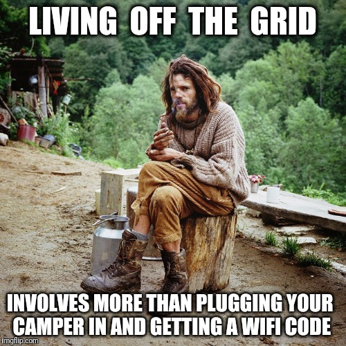 Image result for going off the grid memes