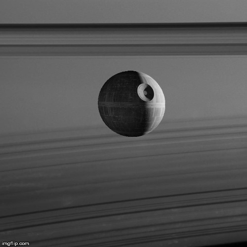 Saturn rings | image tagged in saturn rings,star wars,homemade | made w/ Imgflip meme maker
