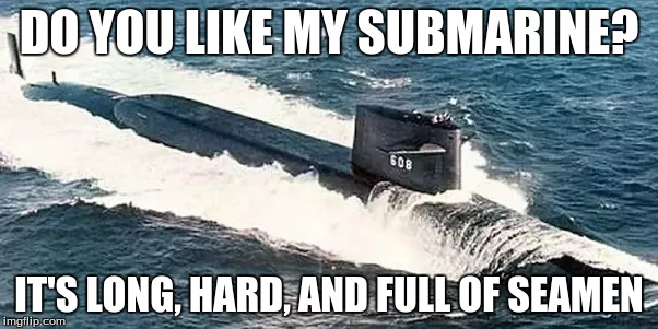 DO YOU LIKE MY SUBMARINE? IT'S LONG, HARD, AND FULL OF SEAMEN | image tagged in memes,submarines | made w/ Imgflip meme maker