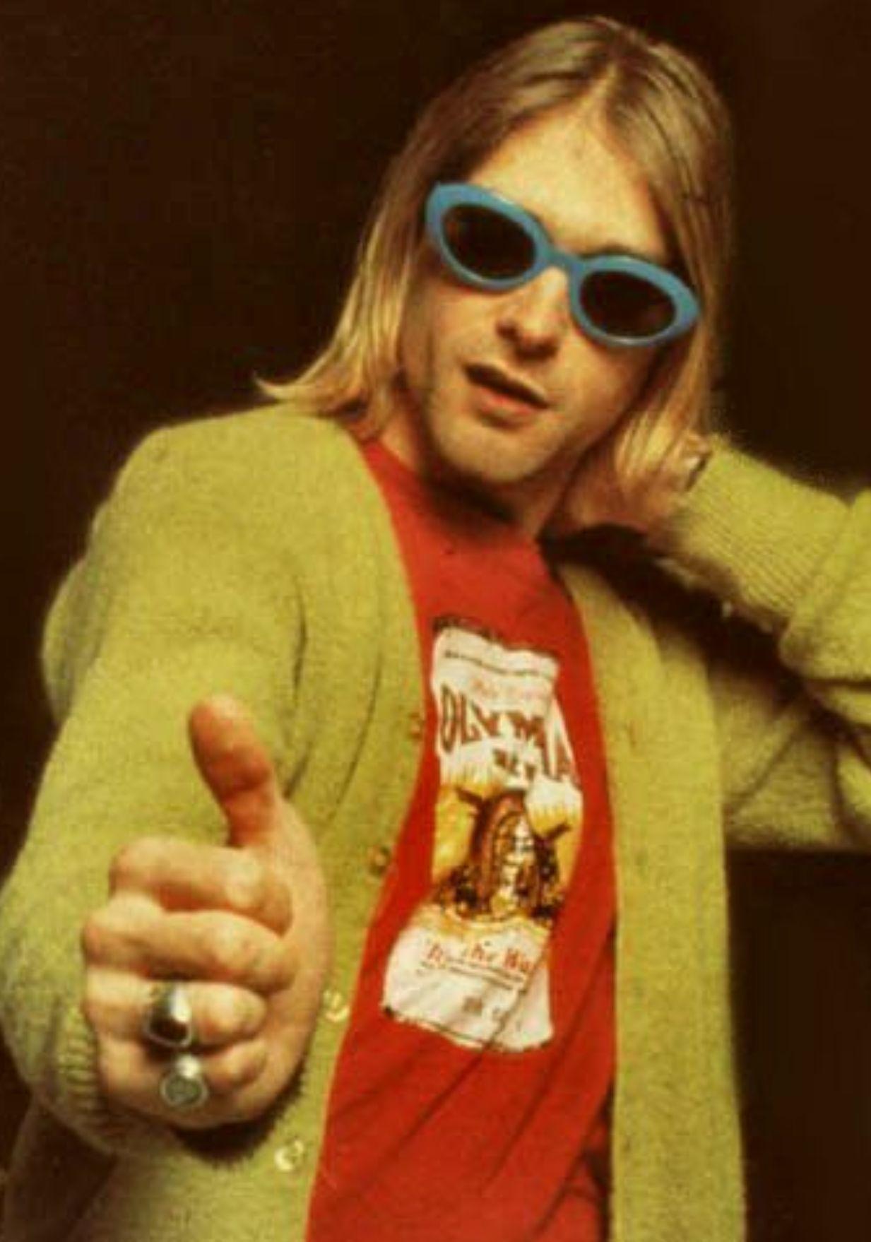 kurt cobain cardigan charisma Blank Template - Imgflip