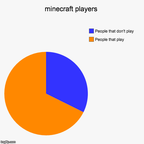 minecraft players | People that play, People that don't play | image tagged in funny,pie charts | made w/ Imgflip pie chart maker