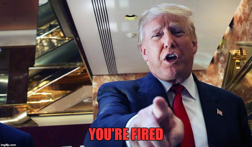 Trump Burn | YOU'RE FIRED | image tagged in trump burn | made w/ Imgflip meme maker