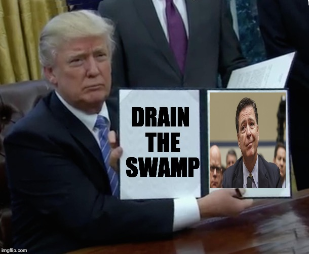 Trump Bill Signing Meme | DRAIN THE SWAMP | image tagged in trump bill signing | made w/ Imgflip meme maker