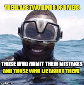 Black Scuba Diver Blank Template