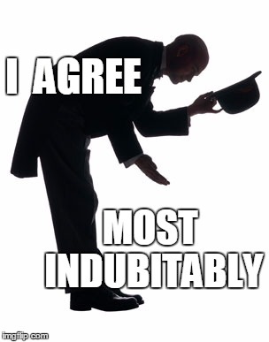 I  AGREE MOST INDUBITABLY | made w/ Imgflip meme maker