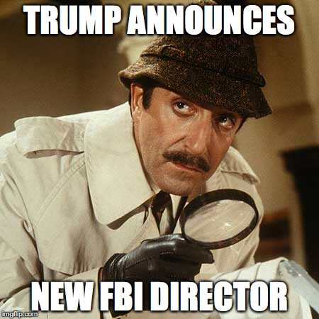 TRUMP ANNOUNCES NEW FBI DIRECTOR | image tagged in pink panther | made w/ Imgflip meme maker