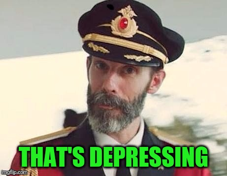 Captain Obvious | THAT'S DEPRESSING | image tagged in captain obvious | made w/ Imgflip meme maker