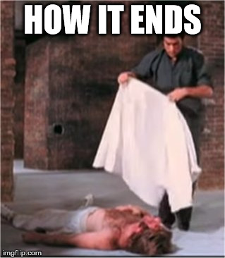 HOW IT ENDS | image tagged in bruce lee blankets chuck norris | made w/ Imgflip meme maker