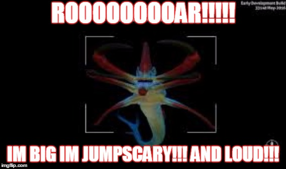 REAPER LEVIATHAN | ROOOOOOOOAR!!!!! IM BIG IM JUMPSCARY!!! AND LOUD!!! | image tagged in subnautica,spooky,scary,underwater | made w/ Imgflip meme maker