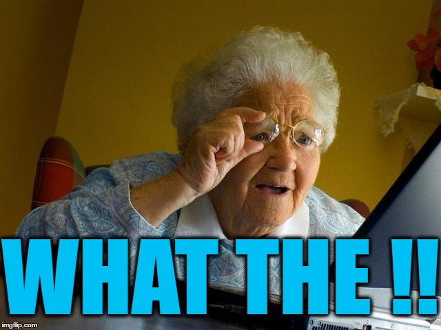 Grandma Finds The Internet Meme | WHAT THE !! | image tagged in memes,grandma finds the internet | made w/ Imgflip meme maker