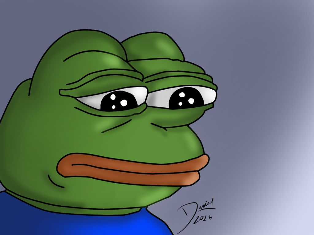 High Quality Pepe Sad Frog Blank Meme Template