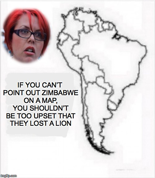 Geography 101 | IF YOU CAN'T POINT OUT ZIMBABWE ON A MAP, YOU SHOULDN'T BE TOO UPSET THAT THEY LOST A LION | image tagged in harambe,zimbabwe,africa,geography | made w/ Imgflip meme maker