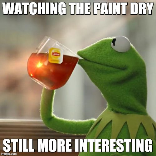 But Thats None Of My Business Meme | WATCHING THE PAINT DRY STILL MORE INTERESTING | image tagged in memes,but thats none of my business,kermit the frog | made w/ Imgflip meme maker