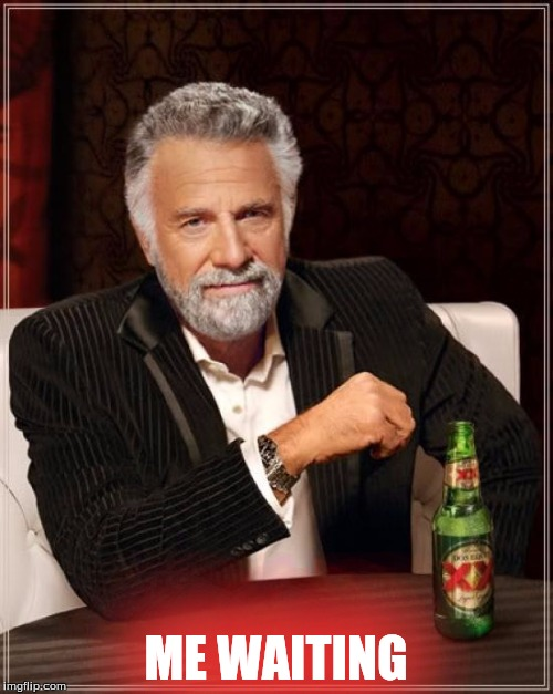 The Most Interesting Man In The World Meme | ME WAITING | image tagged in memes,the most interesting man in the world | made w/ Imgflip meme maker