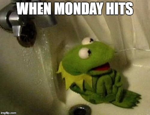 WHEN MONDAY HITS | made w/ Imgflip meme maker