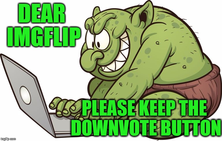 Trolls have rights too,  don't they? | DEAR IMGFLIP PLEASE KEEP THE DOWNVOTE BUTTON | image tagged in troll | made w/ Imgflip meme maker