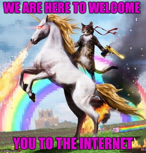 Welcome To The Internets | WE ARE HERE TO WELCOME YOU TO THE INTERNET | image tagged in memes,welcome to the internets | made w/ Imgflip meme maker