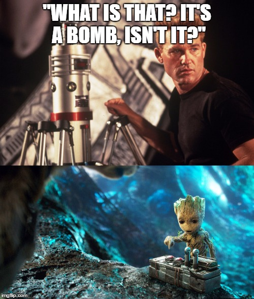 "Ironic Kurt Russell | ""WHAT IS THAT? IT'S A BOMB, ISN'T IT?"" 