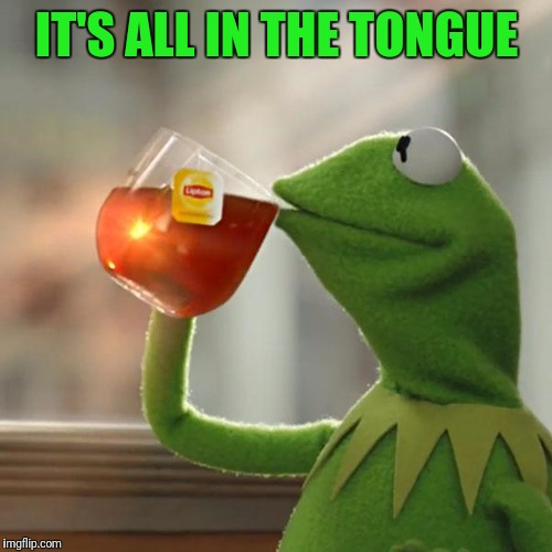 But Thats None Of My Business Meme | IT'S ALL IN THE TONGUE | image tagged in memes,but thats none of my business,kermit the frog | made w/ Imgflip meme maker