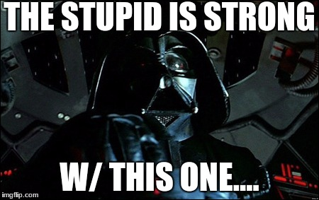 THE STUPID IS STRONG W/ THIS ONE.... | made w/ Imgflip meme maker