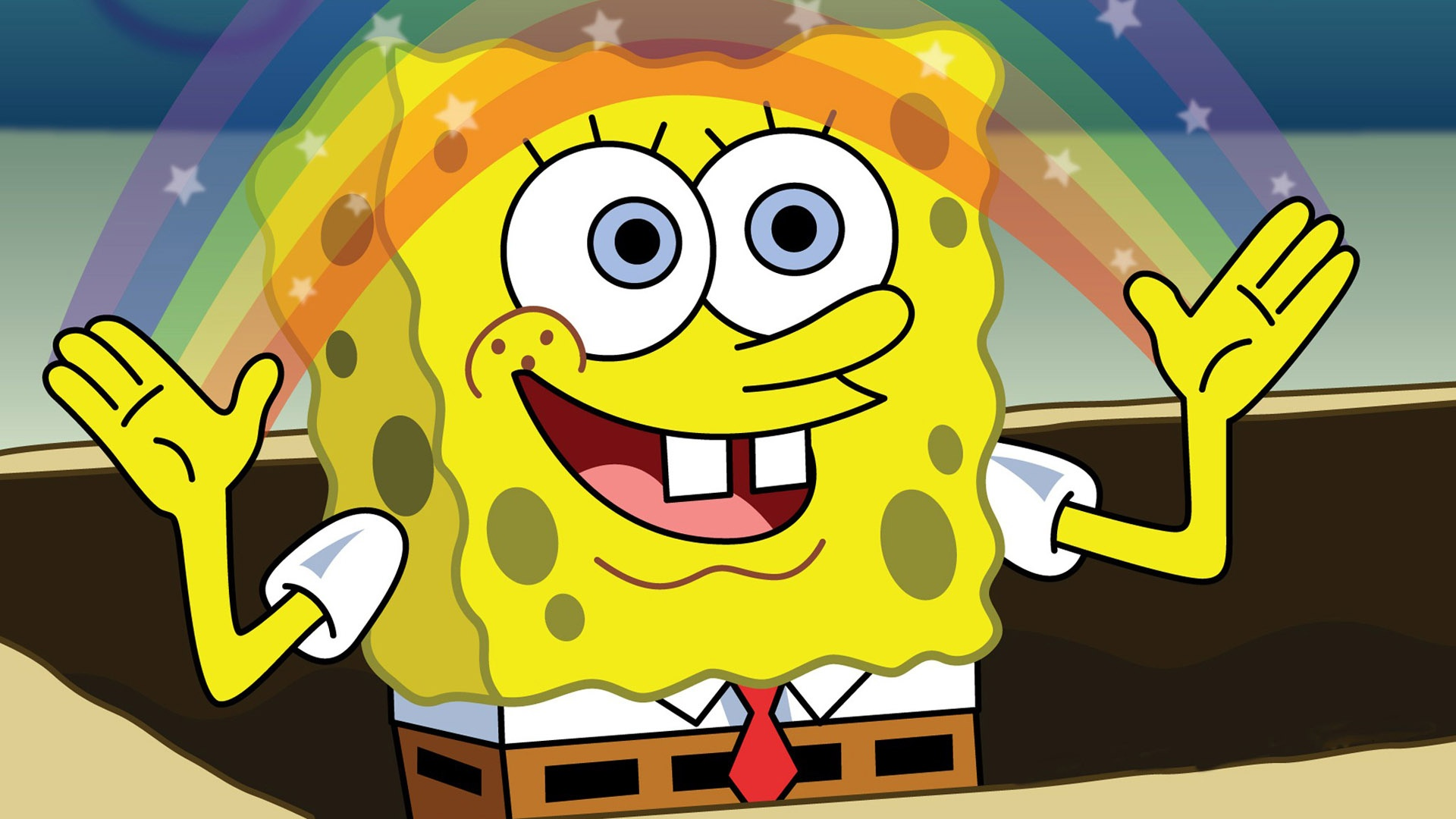 1p5h1w spongebob rainbow blank template imgflip