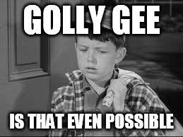 GOLLY GEE IS THAT EVEN POSSIBLE | made w/ Imgflip meme maker