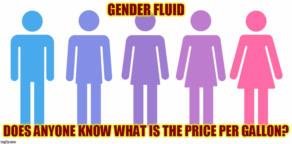I want to buy some Gender Fluid | GENDER FLUID DOES ANYONE KNOW WHAT IS THE PRICE PER GALLON? | image tagged in gender fluid,funny,memes,meme | made w/ Imgflip meme maker