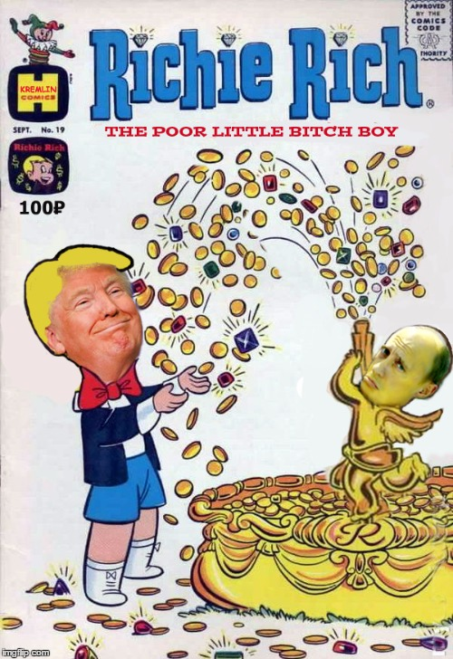 RIchie RIch Trump and pal Putin | image tagged in richie rich trump with pal putin,donald trump,putin | made w/ Imgflip meme maker