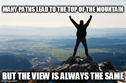Image result for viewing the world from the mountain top