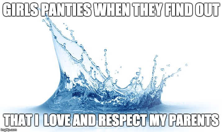 Love my parents | GIRLS PANTIES WHEN THEY FIND OUT THAT I  LOVE AND RESPECT MY PARENTS | image tagged in love,respect,parents | made w/ Imgflip meme maker