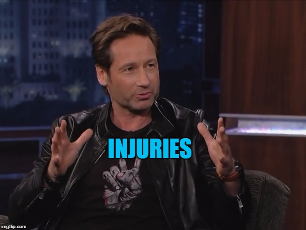 INJURIES | made w/ Imgflip meme maker